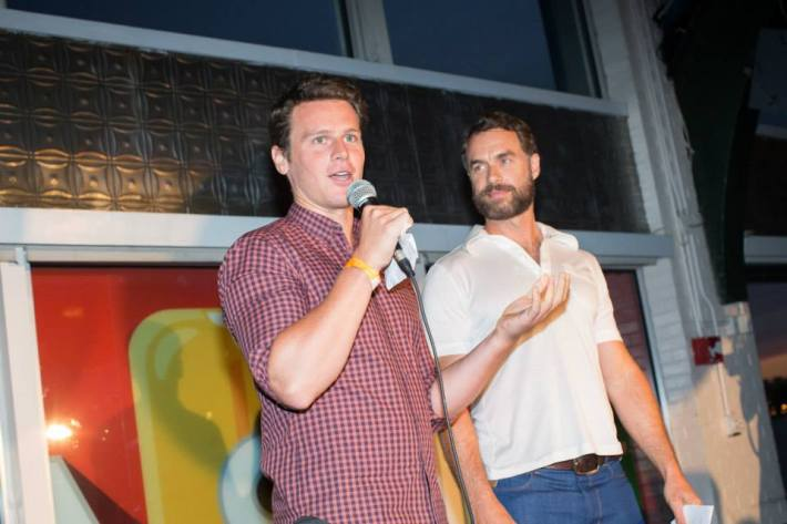 Jonathan Groff, Murray Bartlett at Ali Forney Center's 5th Annual OASIS Summer Benefit  (Photo by BenjaminLozovsky)