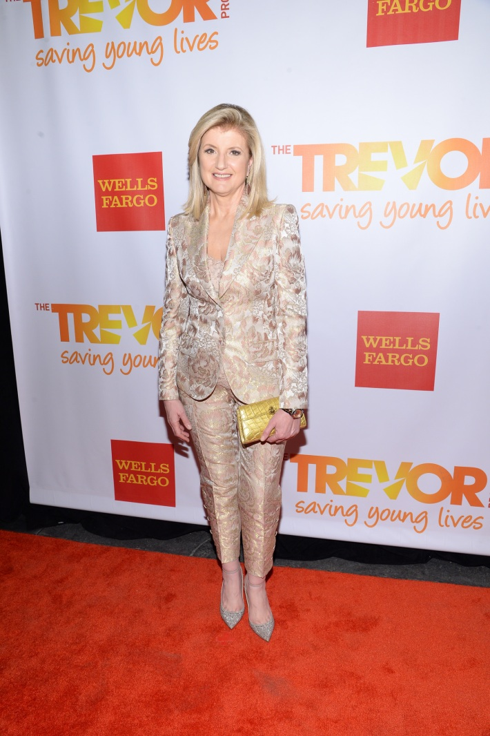 Editor-in-chief of the Huffington Post Media Group Arianna Huffington attends the Trevor Project's 2014 'TrevorLIVE NY' Event at the Marriott Marquis Hote