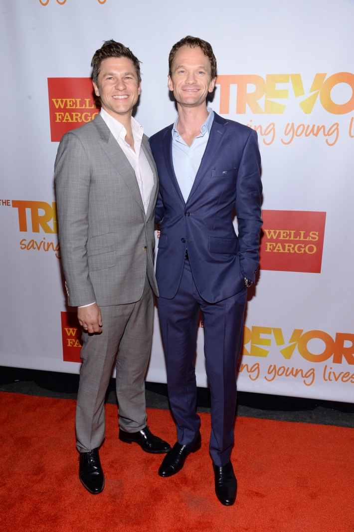 David Burtka and Neil Patrick Harris attend the Trevor Project's 2014 'TrevorLIVE NY' Event at the Marriott Marquis Hotel