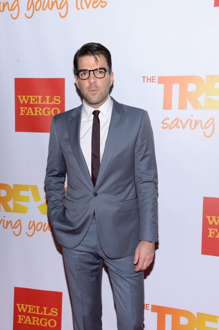 Zachary Quinto attends the Trevor Project's 2014 'TrevorLIVE NY' Event at the Marriott Marquis Hotel