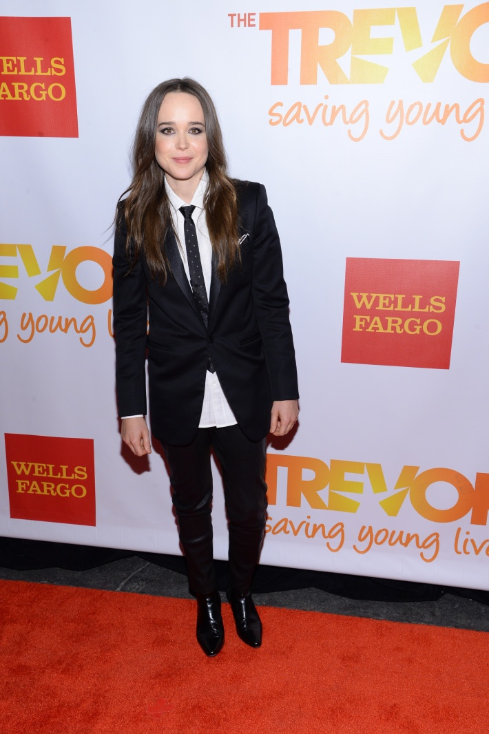 Actress Ellen Page attends the Trevor Project's 2014 'TrevorLIVE NY' Event at the Marriott Marquis Hotel
