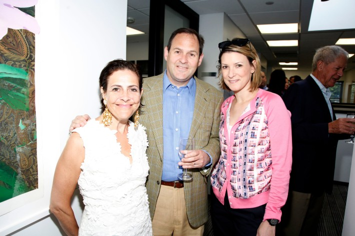 Alexandra Lebenthal, Jim Lebenthal, Lizzie Tisch at The Grand Opening of the Lebenthal Bridgehampton Office (Photo by AdrielReboh)