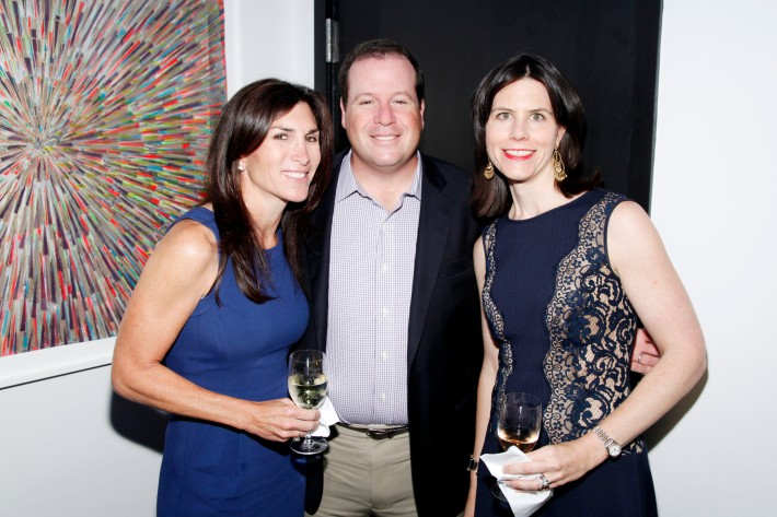 Amanda Fiverson, Peter Fiverson, Carrie Gallaway at The Grand Opening of the Lebenthal Bridgehampton Office (Photo by AdrielReboh)