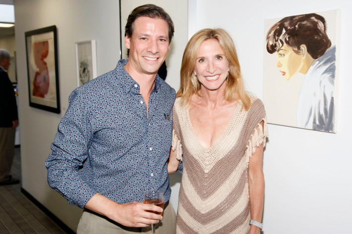 Andy Stern, Lorinda Ash at The Grand Opening of the Lebenthal Bridgehampton Office (Photo by AdrielReboh)