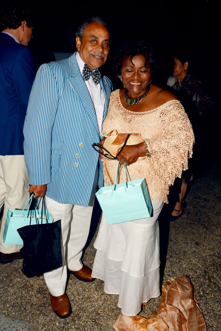 Billy Helms, Vera Moore  attend The Ellen Hermanson Foundation's Summer Solstice Gala (Photo by Patrick McMullan)