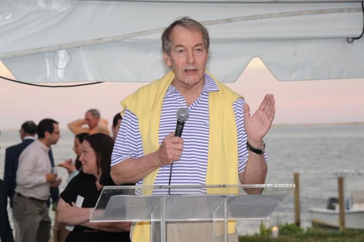 Charlie Rose attends  The Art of Summer Beach Ball 2014 (Photo by Owen Hoffmann)