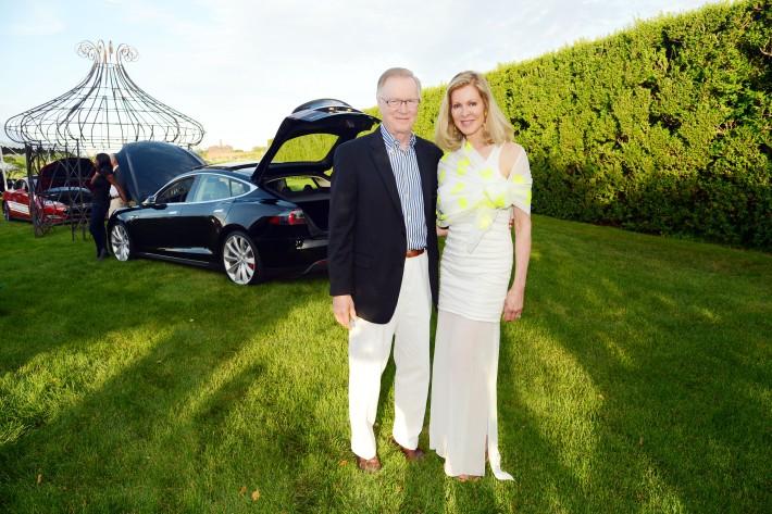 Chuck Scarborough, Ellen Scarborough attend The Ellen Hermanson Foundation's Summer Solstice Gala (Photo by Patrick McMullan)