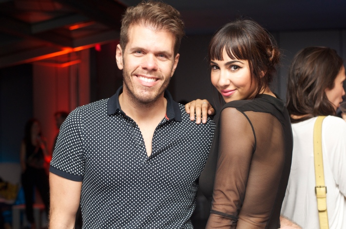 Actress Jackie Cruz and Perez Hilton attend VH1's 'Dating Naked' series premiere at Gansevoort Park