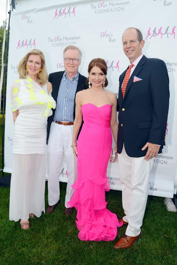 Ellen Scarborough, Chuck Scarborough, Jean Shafiroff attend The Ellen Hermanson Foundation's Summer Solstice Gala (Photo by Patrick McMullan)