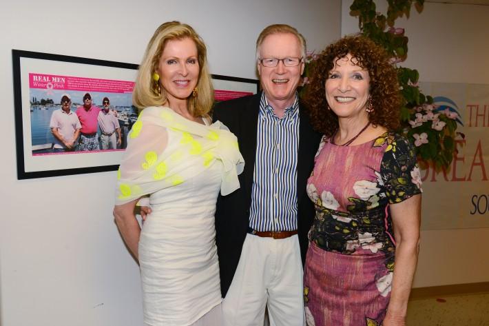 Ellen Scarborough, Chuck Scarborough, Julie Ratner attend The Ellen Hermanson Foundation's Summer Solstice Gala (Photo by Patrick McMullan)