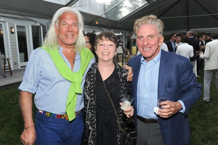 Gary Wolkowitz, Barbara Weiser, Howard Read  attend The Art of Summer Beach Ball 2014 (Photo by Owen Hoffmann)