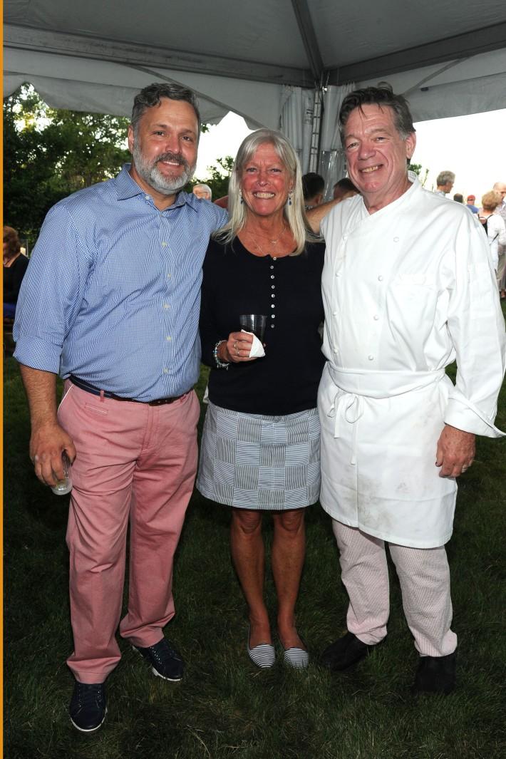 Carl Hedin, Kathy Cullen, John Wiecks  attend The Art of Summer Beach Ball 2014 (Photo by Owen Hoffmann)