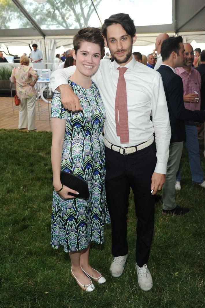 Grace Boges, Michael Baptist attend The Art of Summer Beach Ball 2014 (Photo by Owen Hoffmann)
