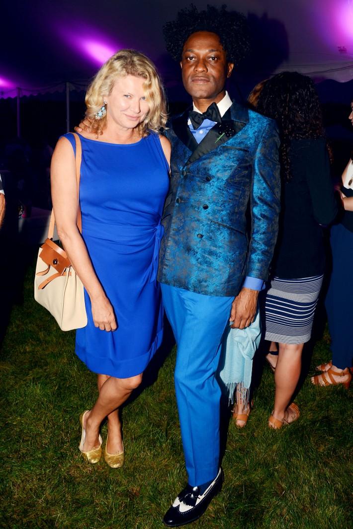 Sharon Bush, Ike Ude attend The Ellen Hermanson Foundation's Summer Solstice Gala (Photo by Patrick McMullan)