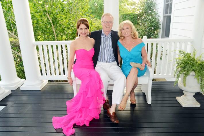 Jean Shafiroff, Chuck Scarborough, Sharon Bush attend The Ellen Hermanson Foundation's Summer Solstice Gala (Photo by Patrick McMullan)