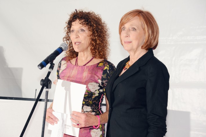 Julie Ratner, Emily Levin attend The Ellen Hermanson Foundation's Summer Solstice Gala (Photo by Patrick McMullan)
