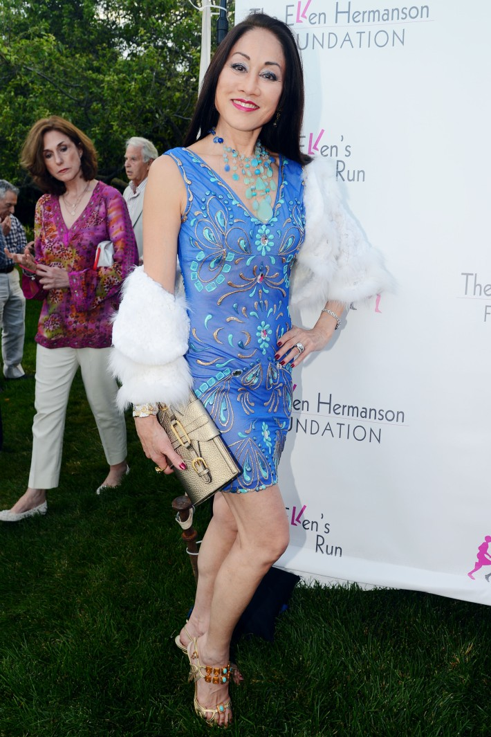 Lucia Hwong Gordon attends The Ellen Hermanson Foundation's Summer Solstice Gala (Photo by Patrick McMullan)