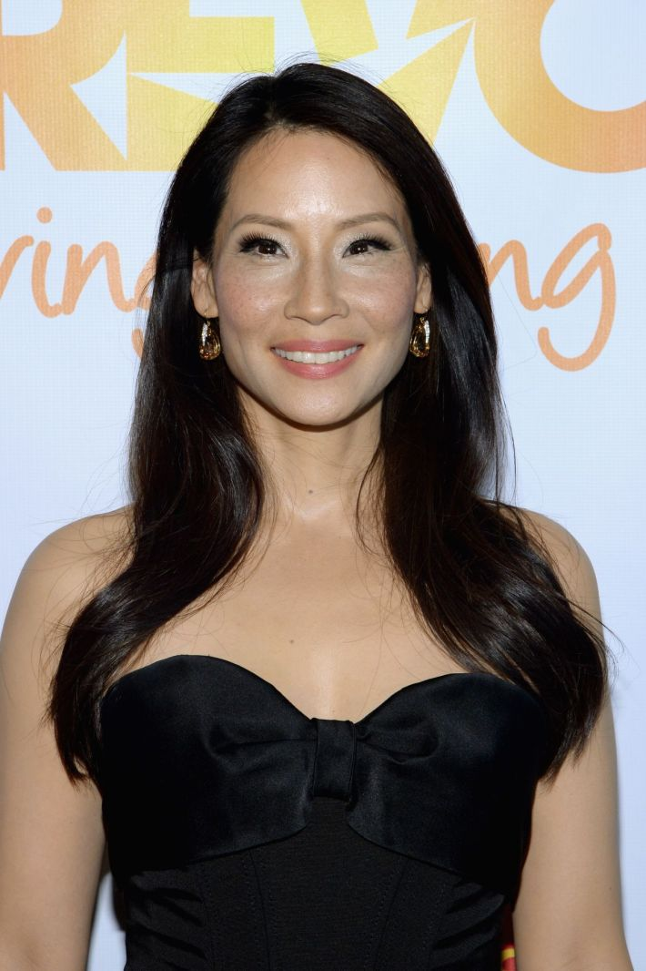Lucy Liu attends the Trevor Project's 2014 'TrevorLIVE NY' Event at the Marriott Marquis Hotel