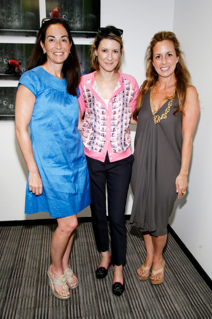 Pamela Boulet, Lizzie Tisch, Amy Heilberg at The Grand Opening of the Lebenthal Bridgehampton Office (Photo by AdrielReboh)