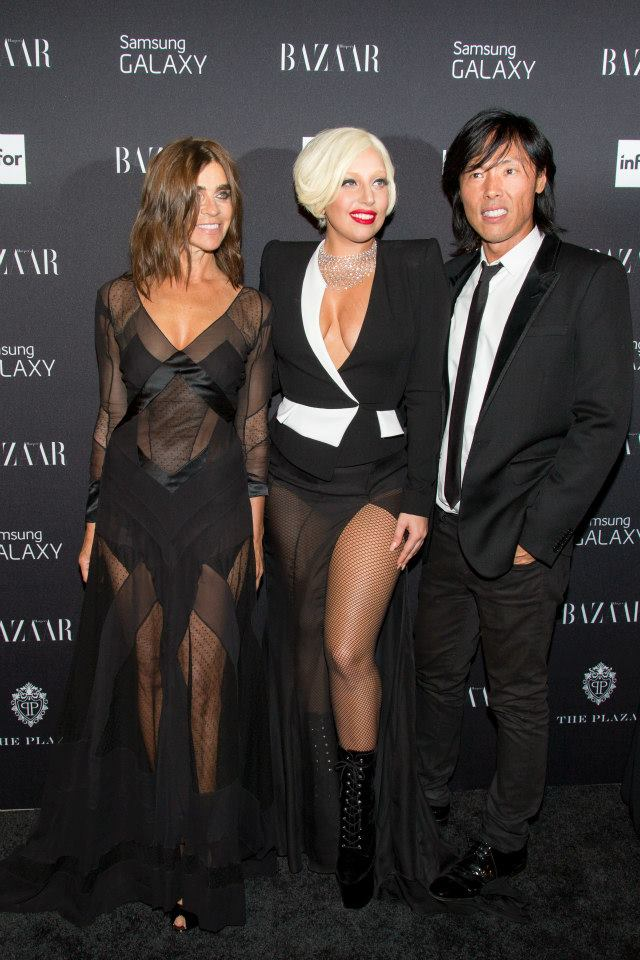 Carine Roitfeld, Lady Gaga, Stephan Gan  attend Harper's BAZAAR celebrates Icons by Carine Roitfeld at The Plaza Hotel