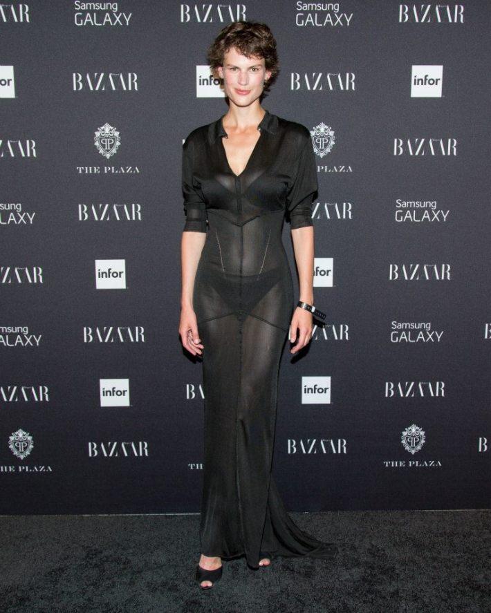Model Saskia de Brauw attends  Harper's BAZAAR Celebrates Icons By Carine Roitfeld at The Plaza Hotel