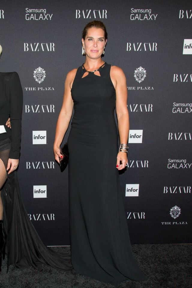 Brooke Shields attends Harper's BAZAAR celebrates Icons by Carine Roitfeld at The Plaza Hotel