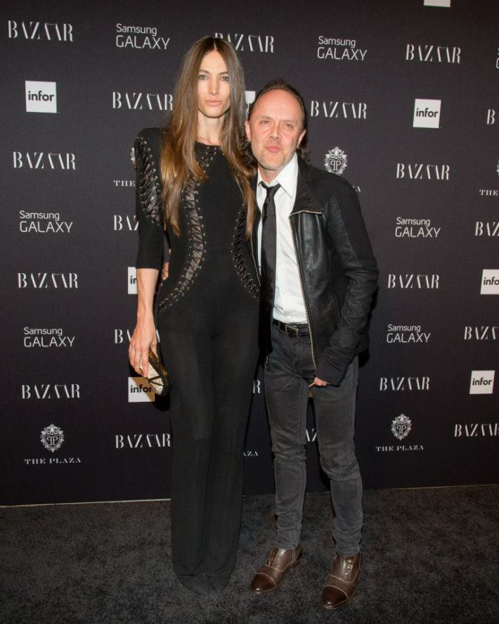 Jessica Miller, Lars Ulrich attend Harper's BAZAAR celebrates Icons by Carine Roitfeld at The Plaza Hotel