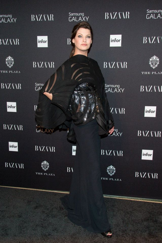 Linda Evangelista attends Harper's BAZAAR Celebrates Icons By Carine Roitfeld at The Plaza Hotel
