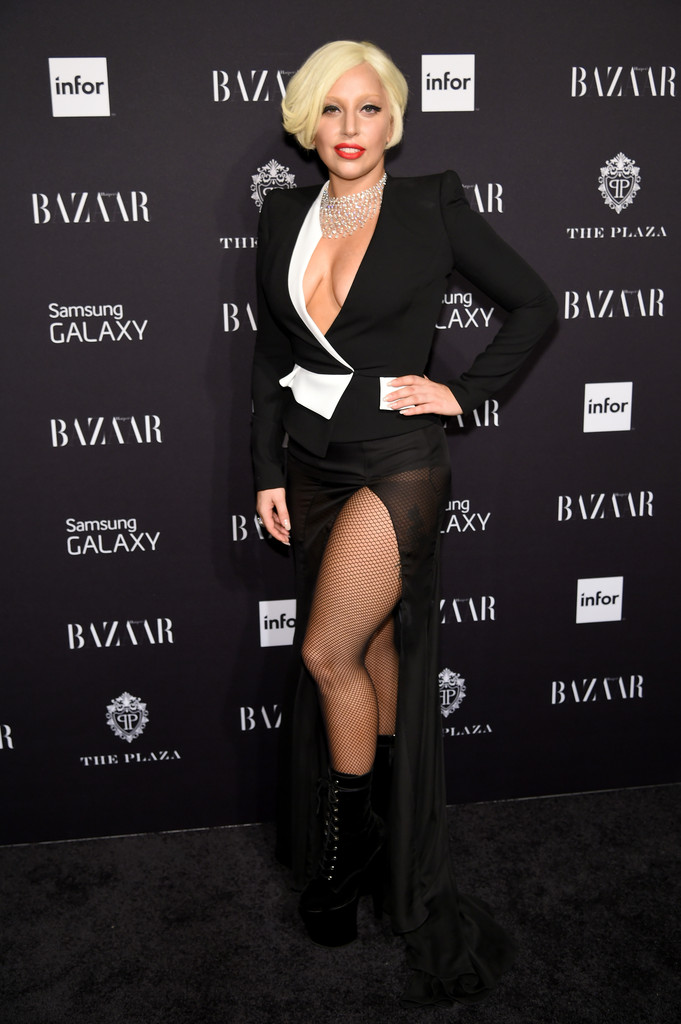 Lady Gaga attends Samsung GALAXY At Harper's BAZAAR Celebrates Icons By Carine Roitfeld at The Plaza Hotel