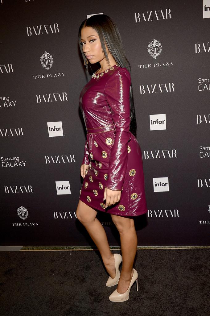 Nicki Minaj attends Samsung GALAXY At Harper's BAZAAR Celebrates Icons By Carine Roitfeld at The Plaza Hotel