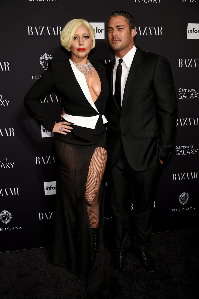 Lady Gaga and Taylor Kinney attend Samsung GALAXY At Harper's BAZAAR Celebrates Icons By Carine Roitfeld at The Plaza Hotel