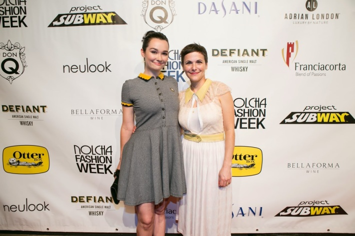 Actress Kristen Ruhlin  and Fashion designer Katty Xiomara and attend the Nolcha Fashion Week New York