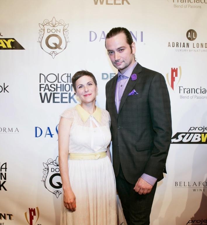 Fashion designer Katty Xiomara and actor Constantine Maroulis attend the Nolcha Fashion Week New York