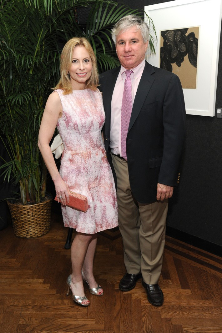 Gillian Miniter, Sylvester Miniter attend The National Arts Club Presents 'Charles James: Beneath The Dress  (Photo by OwenHoffmann)