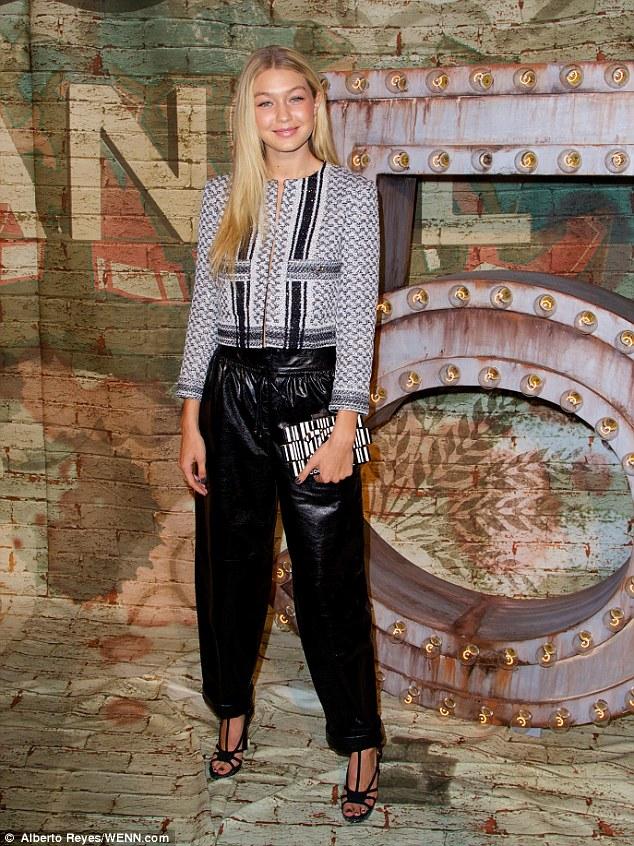 Model Gigi Hadid attends the CHANEL Dinner Celebrating N°5 THE FILM by Baz Luhrmann