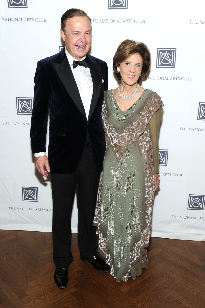 Alex Donner, Annette De Lorenzo  attend The National Arts Club Presents 'Charles James: Beneath The Dress  (Photo by OwenHoffmann)