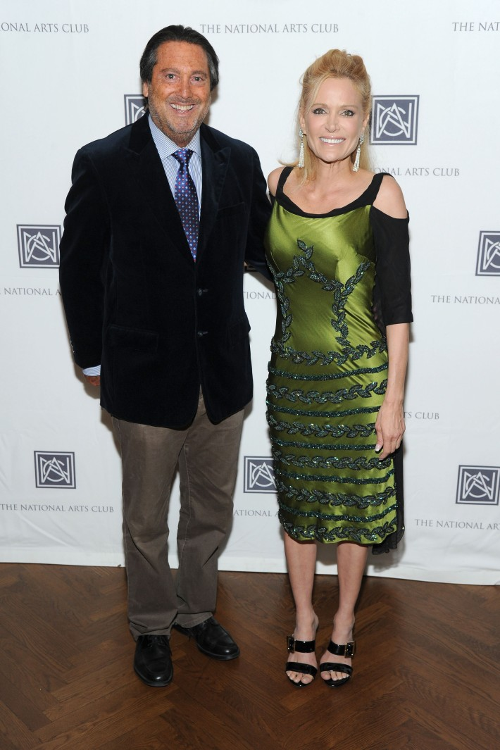 Larry Wohl, Lisa Rowland attend The National Arts Club Presents 'Charles James: Beneath The Dress  (Photo by OwenHoffmann)