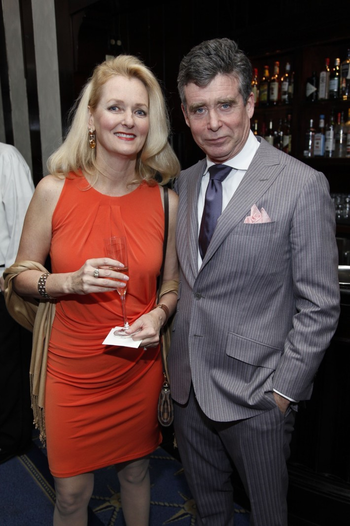 Kimberly Rockefeller, Jay McInerney attend The National Arts Club Presents 'Charles James: Beneath The Dress  (Photo by OwenHoffmann)