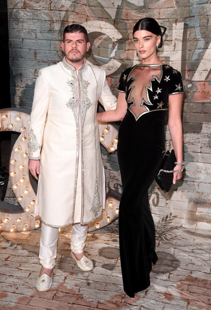 Eli Mizrahi and Model Crystal Renn attend CHANEL Dinner Celebrating N°5 THE FILM By Baz Luhrmann