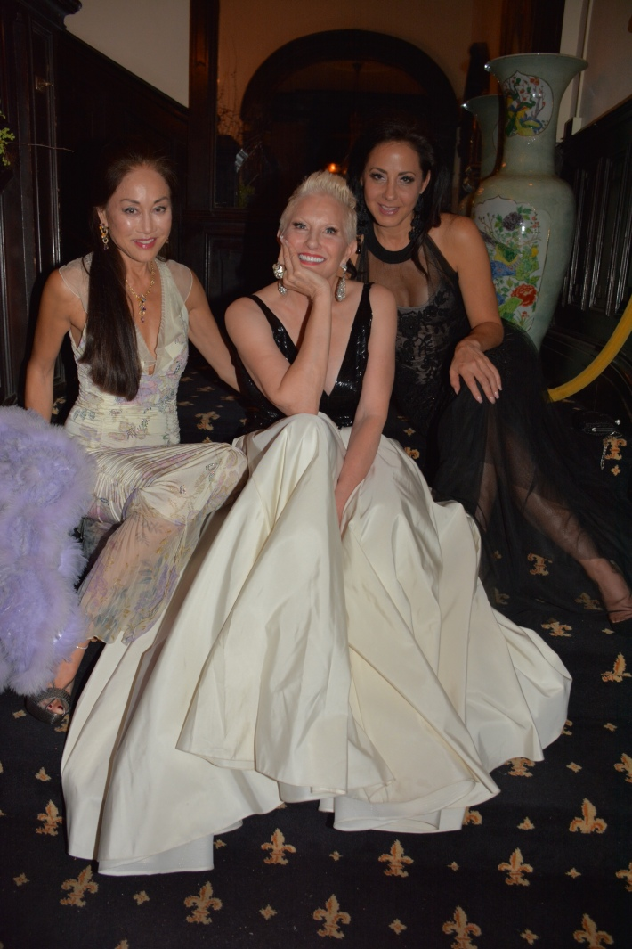 Lucia Hwong Gordon,  Dianne Bernhard, Angela Bernhard Thomas attend The National Arts Club Presents 'Charles James: Beneath The Dress  (Photo by Rose Billings)