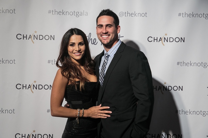 Andi Dorfman and Josh Murray attend the 5th Anniversary Of The Knot Gala