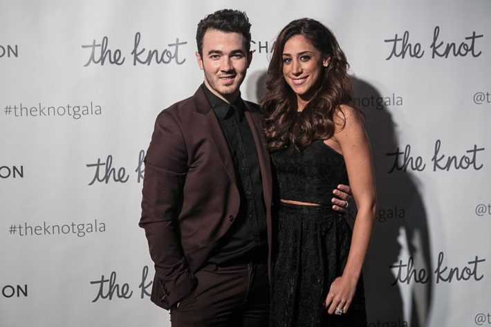 Kevin Jonas and Danielle Jonas attend the 5th Anniversary Of The Knot Gala