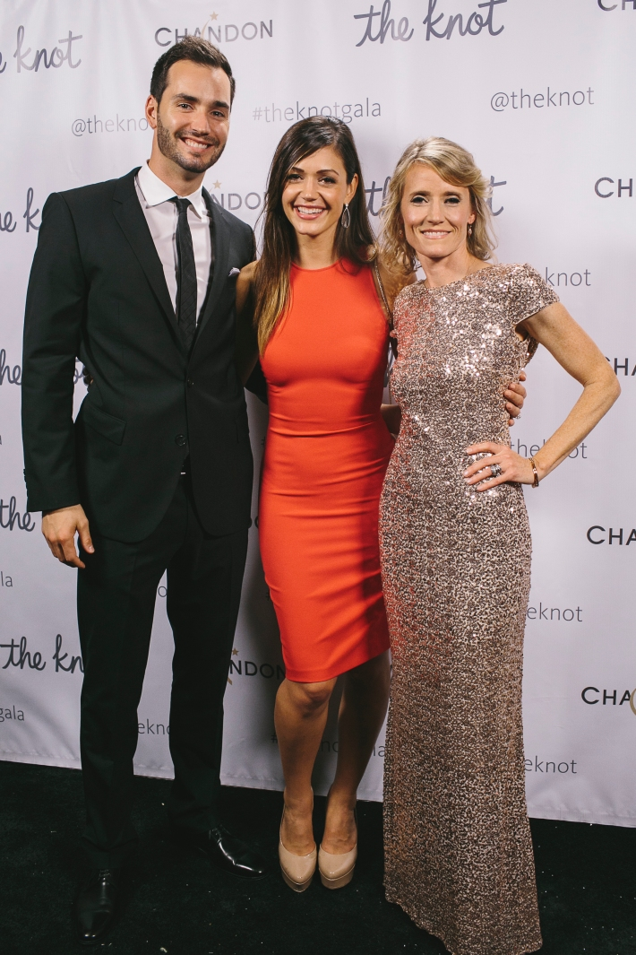 Desiree Hartsock, Chris Siegfried and The Knot co-founder Carley Roney attend the 5th Anniversary Of The Knot Gala