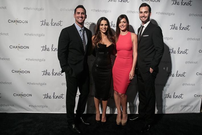 Chris Siegfried,  Josh Murray, Andi Dorfman and Desiree Hartsock attend the 5th Anniversary Of The Knot Gala