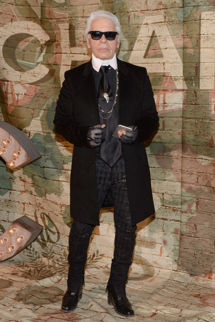 Karl Lagerfeld at CHANEL Dinner Celebrating N°5 THE FILM By Baz Luhrmann