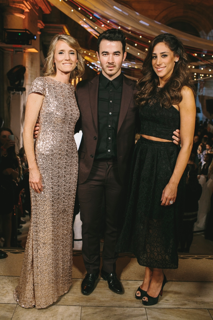 The Knot co-founder Carley Roney, Kevin Jonas and Danielle Jonas attend the 5th Anniversary Of The Knot Gala