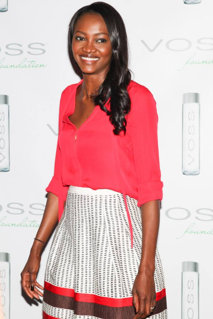 Supermodel Oluchi Orlandi attends Voss Foundation's Fifth Annual  Women Helping Women New York Luncheon