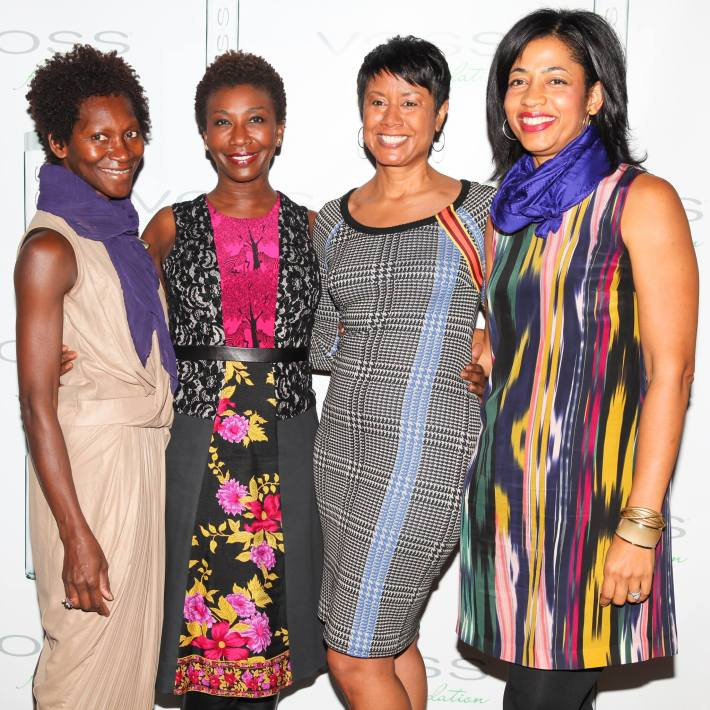 Edris Nichols, Dr Rosemarie Ingleton, Kerry Chandler and Julia Erickson attend Voss Foundation's Fifth Annual  Women Helping Women New York Luncheon