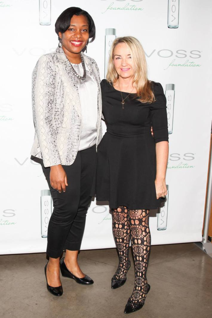 Kedma Brown and Jane Sutherland attend Voss Foundation's Fifth Annual Women Helping Women New York Luncheon