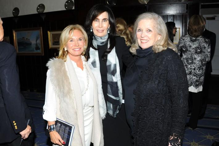 "Sharon Bush, Joanna Cutler, Susan Lloyd attend Book Launch for HRH Princess Michael of Kent's ""Queen of Four Kingdoms"" (Photo by PaulBruinooge)"